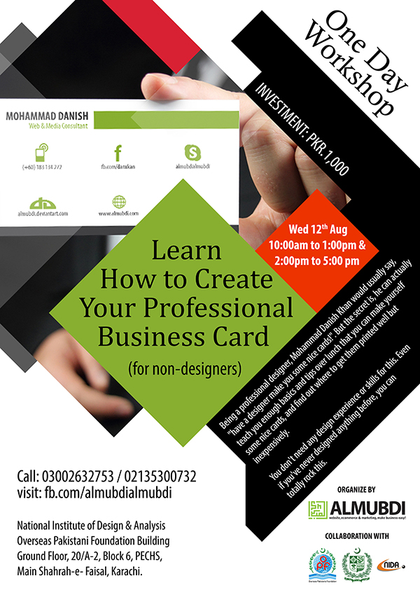 Learn How to Create Your Professional Business Card • ALMUBDI Web ...